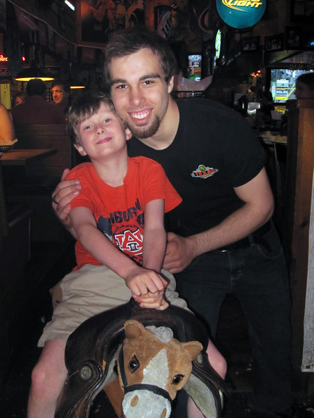 Noah & Brady<br /> At the Texas Roadhouse Restaurant<br /> May 2013
