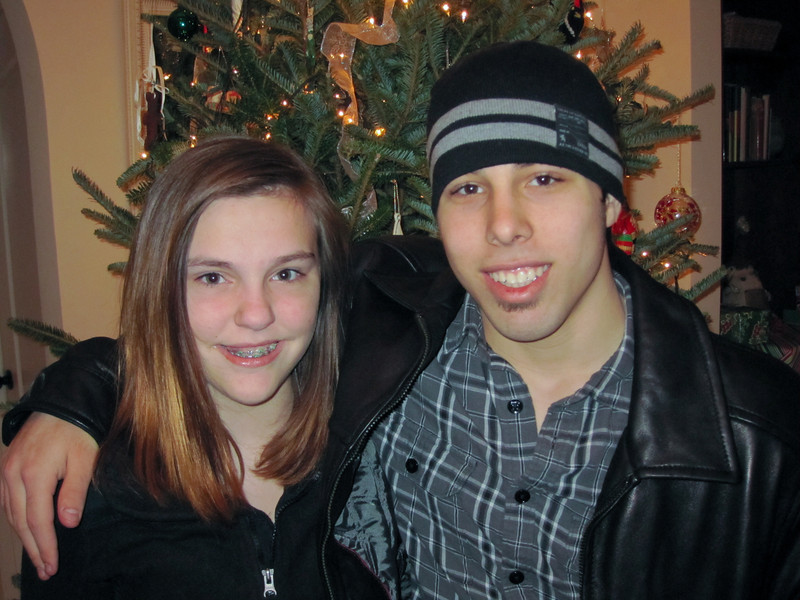 Claire and Brady<br /> Christmas 2011
