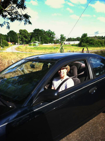 Brady & his first car<br /> June 2013