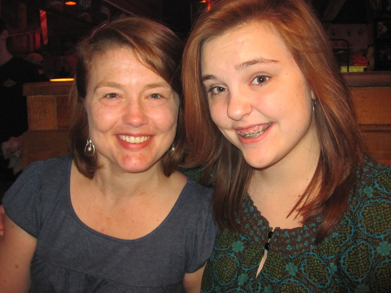Erin & Claire<br /> At the Texas Roadhouse Restaurant<br /> May 2013