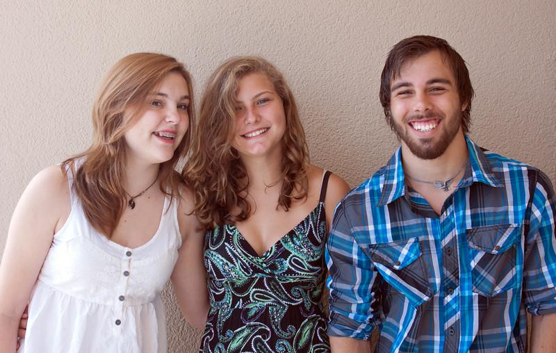 Claire, Allysa & Brady<br /> at the Condo<br /> August 2013