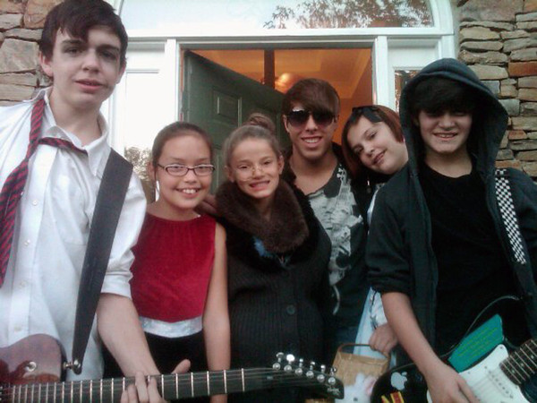 Myers, Brady and Claire with Friends<br /> October 2011