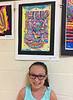JC with her art work