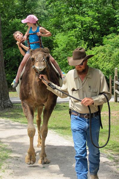 JC & Noah - Camel ride