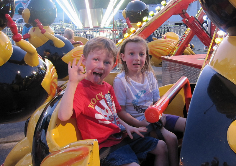 Noah Yarbrough and JanieCate Grice at the State Fair<br /> August 26, 2011