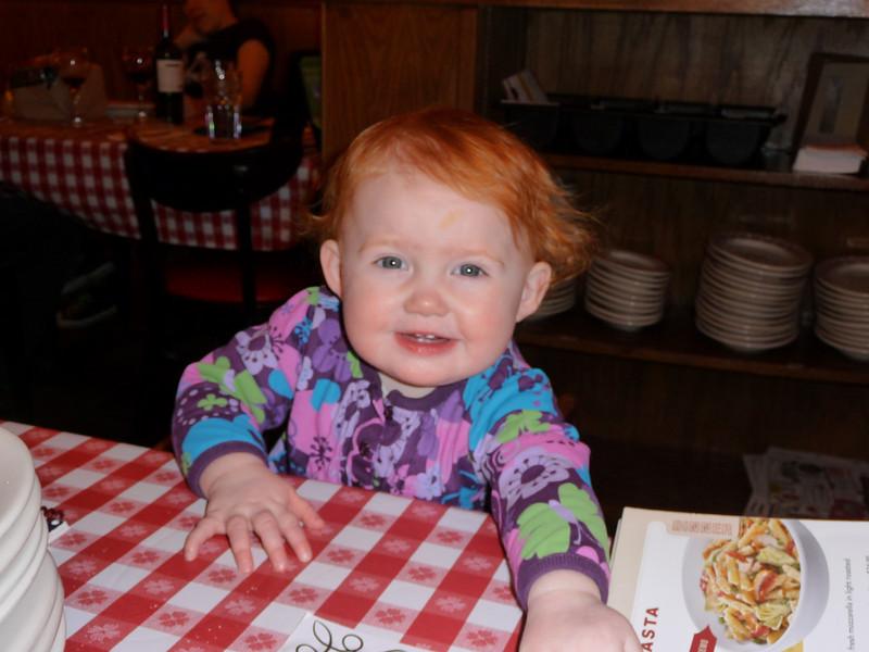 Amelia at Buca de Beppo's