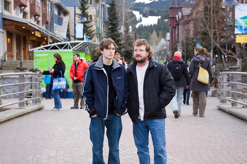 Jonah and Nelson - Whistler Village: March, 2010