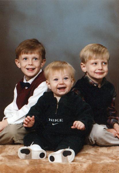 Jonah, Benjamin and Seth Grice<br /> November, 1998