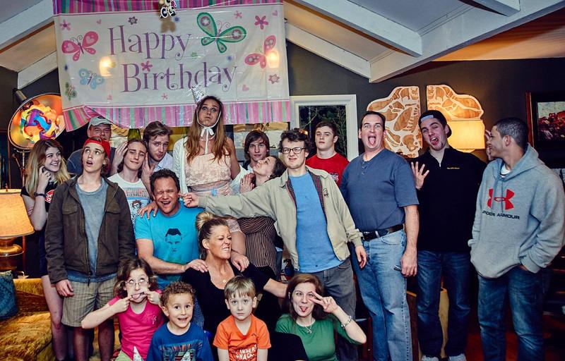 Jonah with Mia's Family