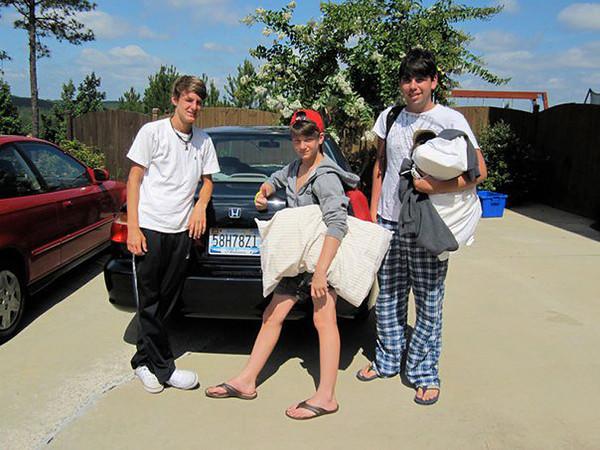 Seth, Benjie & Joseph - Returning from Kingwood<br /> June 2011