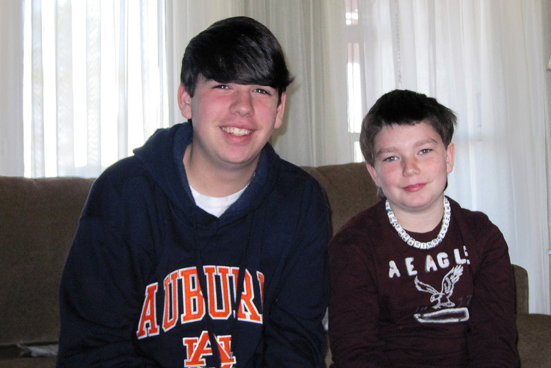 Joseph and Vincent - January, 2010