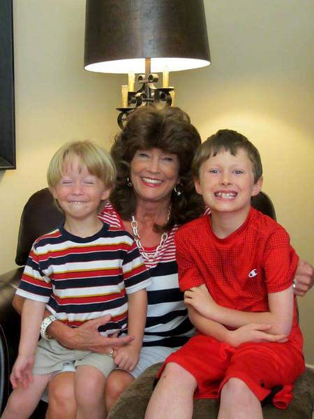 Noah & patrick with Janet