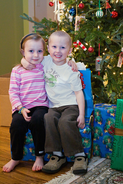 JanieCate and Noah<br /> Christmas, 2009