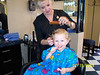 Noah's first haircut - July, 2008