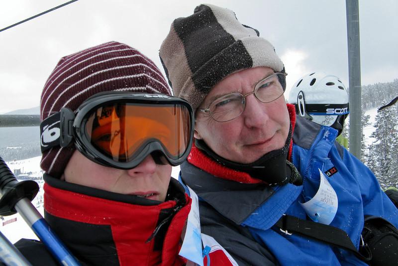 Seth and Pop - Breckenridge: March, 2008