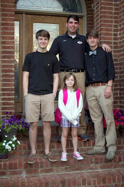 Benjie, Joseph, Seth & JC<br /> Staring School - August 2012