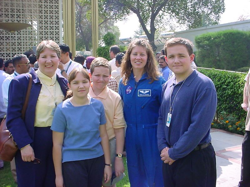 In spring of 2003 one of the NASA astronauts visited the embassy in Delhi, India.