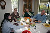 Cat breakfast -- Mike Heintz, stopped by and join the party.  Sadly, Linda had to work that day.