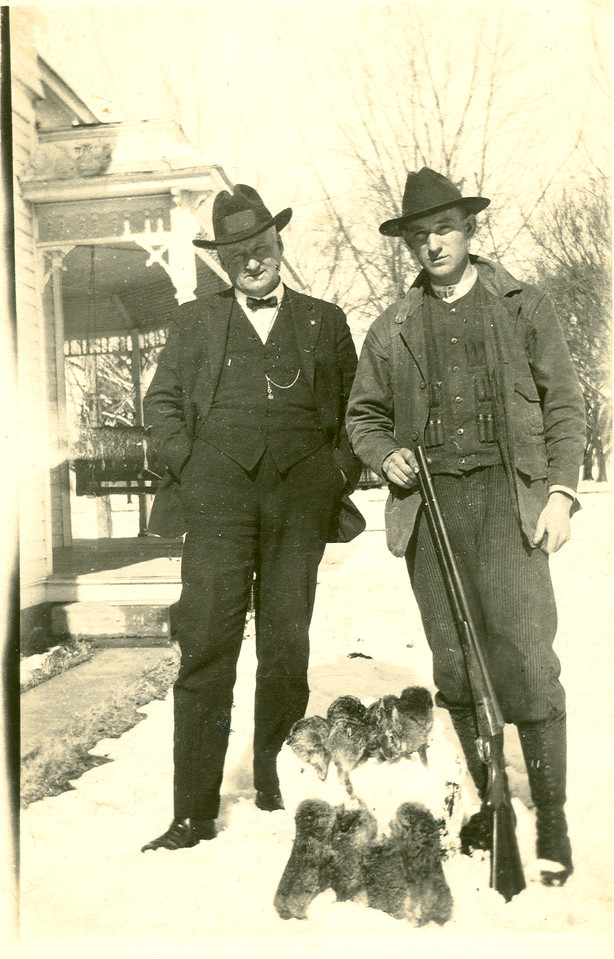 Ralph Winfrey Holbrook and nephew Clayton Holbrook in Perkins Oklahoma. circa 1930