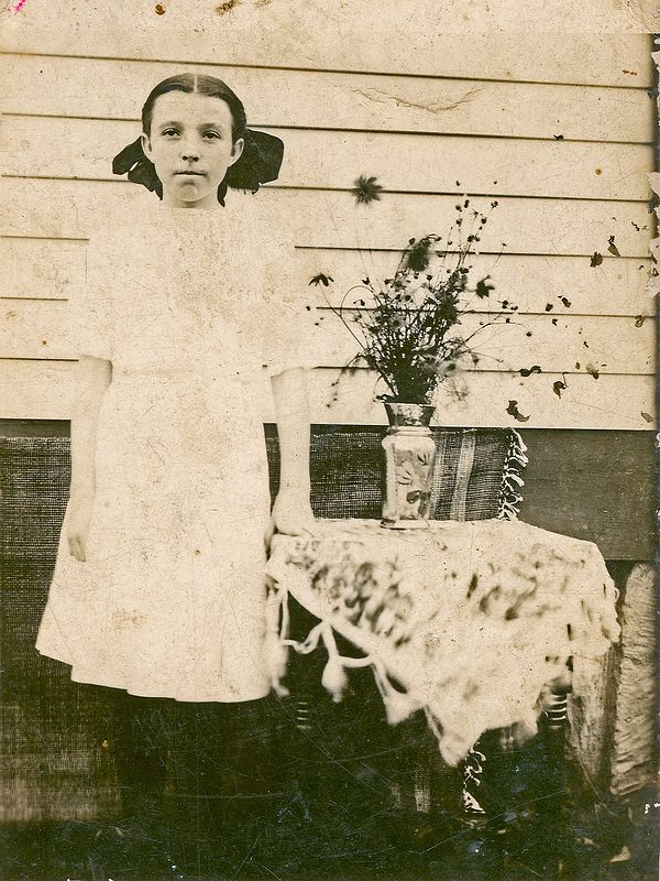 Levada Holbrook daughter of Jesse and Charlotte Holbrook.  circa 1910