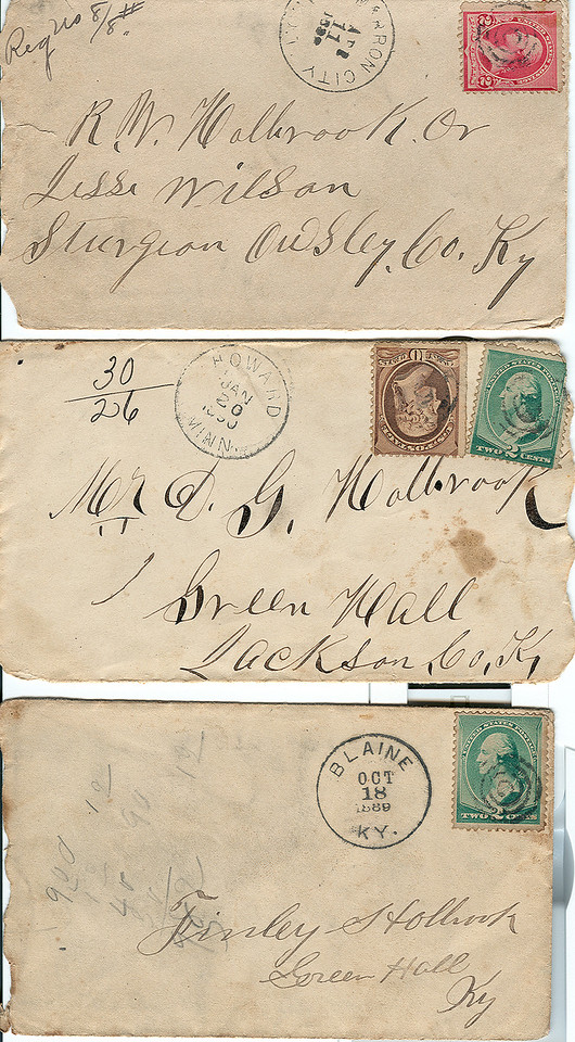 Some of many envelopes from letters