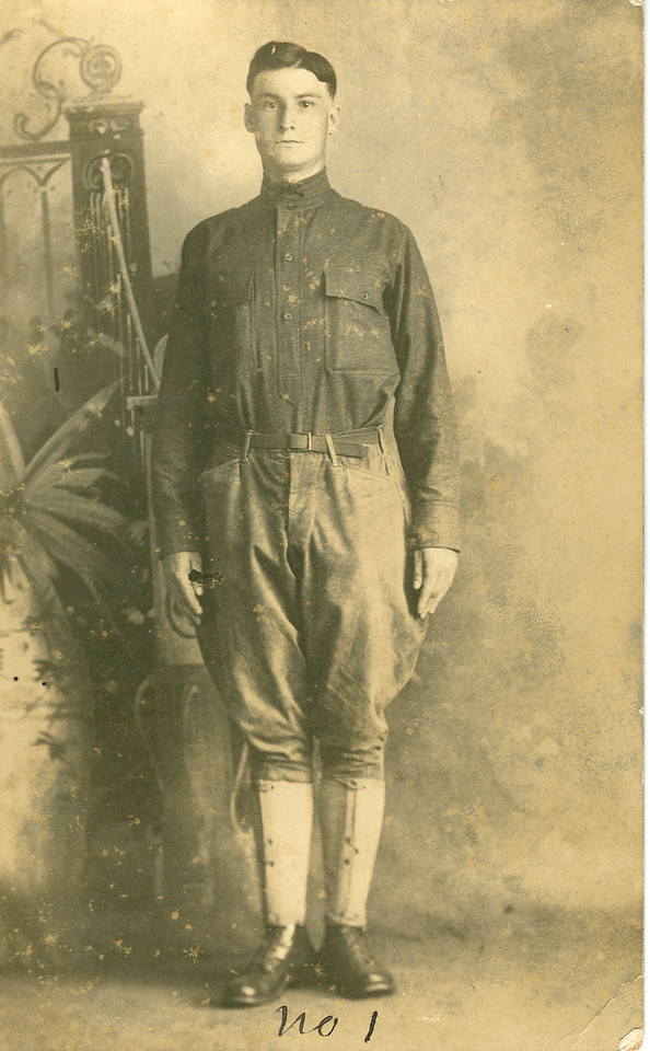 WWI veteran Burton son of Jesse and Charlotte Holbrook.  circa 1919
