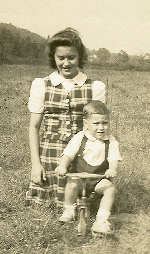 Irene Holbrook with brother Ronnie.