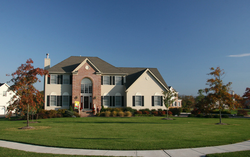 Our house, 1 Mersher Court, in the fall of 2009.  We have a corner lot which faces the setting sun.