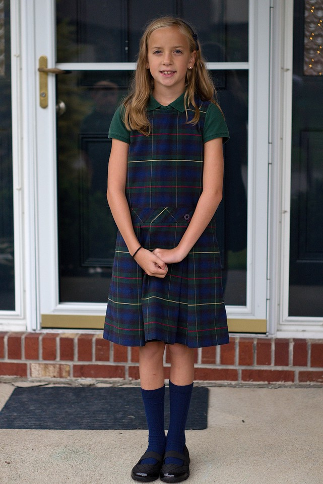 Abby on first day of school 2015