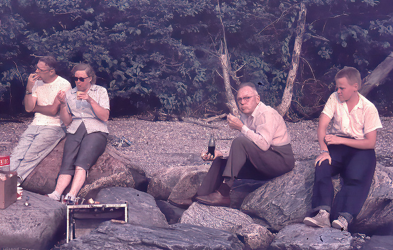 Picnic on the Beach at Harpswell