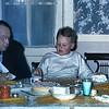 Grandpa (Arthur) Locke, Allen, and Andy at Dinner Table