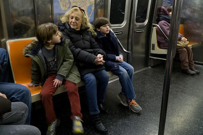 """On the B, heading to Manhattan for the theater: """"The Lion, The Witch and The Wardrobe."""""""