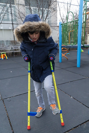 On one of many visits to our playground, Ethan learned how to use stilts after a lesson from our neighbor Fabrice.