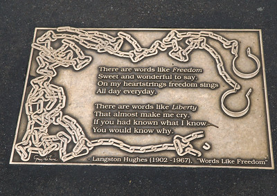 As we walked east on West 41st Street we came across blocks of embedded brass plaques with quotes from writers and poets through the ages. Each had something to say about written word—books, poetry, song.