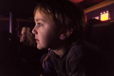 At the theater. Sammy's transfixed.