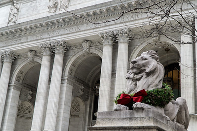 After the show we walked over to Grand Central station but not before taking a look at the library lions. This is Fortitude.