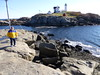 2013-11-08 P1020174 Another view of Uncle Al's rock at the Nubble light House