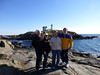 2013-11-08 P1020171 Fred, Carol, Lynda and Doug at the famous Nubble Light