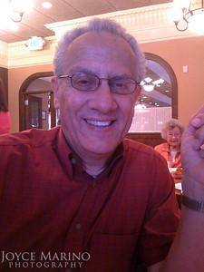 Ed at Pizza John's for Uncle Joe's visit.