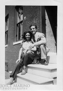 Mom and Uncle Phil.  Shot somewhere in Baltimore.  Location & Date:  Unknown.