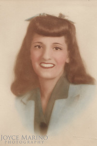 Beautiful pastel of Mom in her late teens or early 20's.  What a beauty!  Mid 1940's.