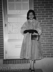 Mom's sister, JoAnn.   The Marino's always called her JoAnn.  All JoAnn's siblings and friends called her Therese.   Location:  423 Washington Avenue or Street in Baltimore.