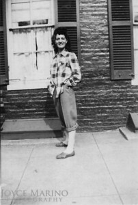 Aunt JoAnn on Washington Street in late 40's or early 50's.
