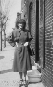 Mom on Easter Sunday in 1944.  She was 19 years old.  Don't know where in Baltimore this was shot.