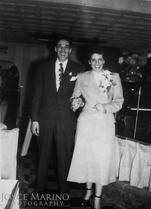 Mom & Dad's wedding, January 27, 1950.