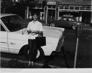 Aunt JoAnn.    Mom said this was taken on Spruce Street in Baltimore and we lived one block from her.  The restaurant in the background used to be a department store named Grenaders.