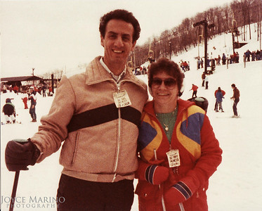 Wonderful picture of Ed and Carol on the bunny slope somewhere.