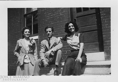 Aunt Chris, Uncle Phil and Mom around  1937 or so.   Mom was 17 years old.  Don't know where in Baltimore this was shot.