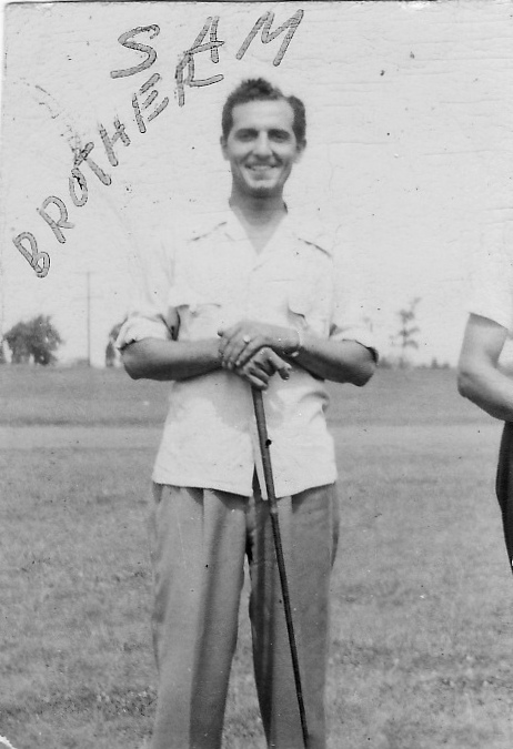 John and Theresa's first born, Sam Minacapelli.  Born 1914.  He worked as a supervisor in the shipyards in Baltimore.  He died in a fire in the hull of ship, while assisting one of his crew. He passed in ??? Looks like he was on the golf course.  Don't know year or location.