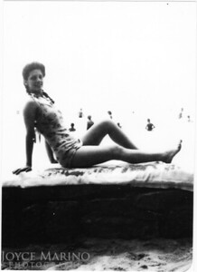 Mom at the beach in NJ.  Looks like it was shot around 1944 or so.